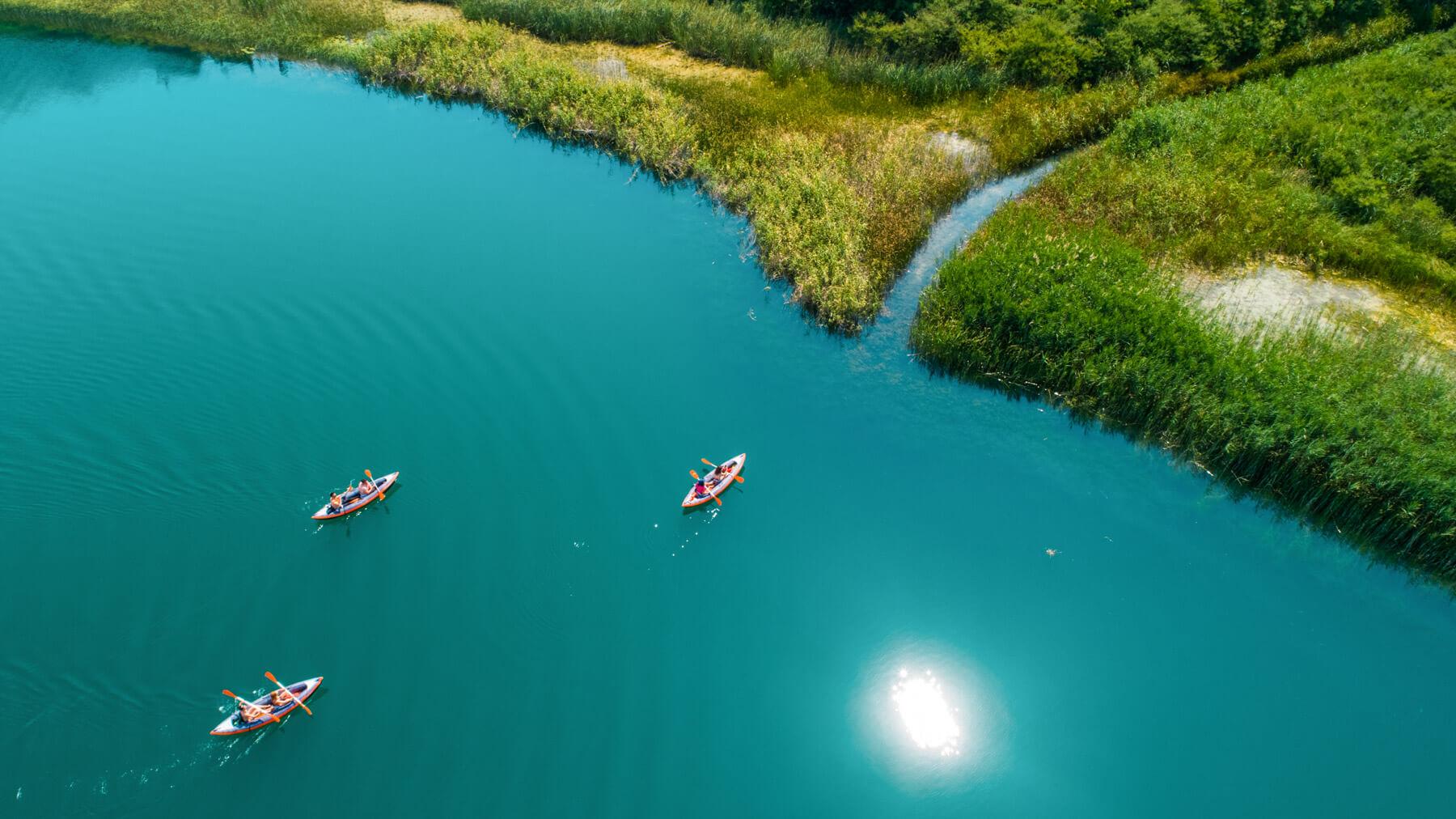 aerial-view-on-bacina-lakes-kayaking-tour