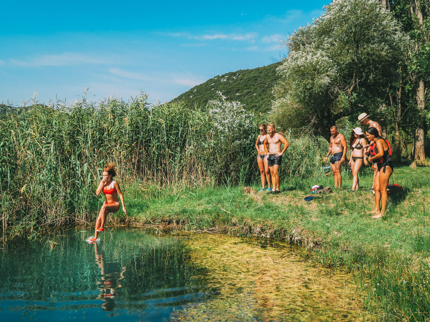 jumping-in-cold-pool-on-bacina-lakes