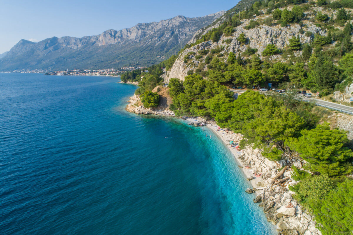 crystal clear sea is one of the main things to visit gradac