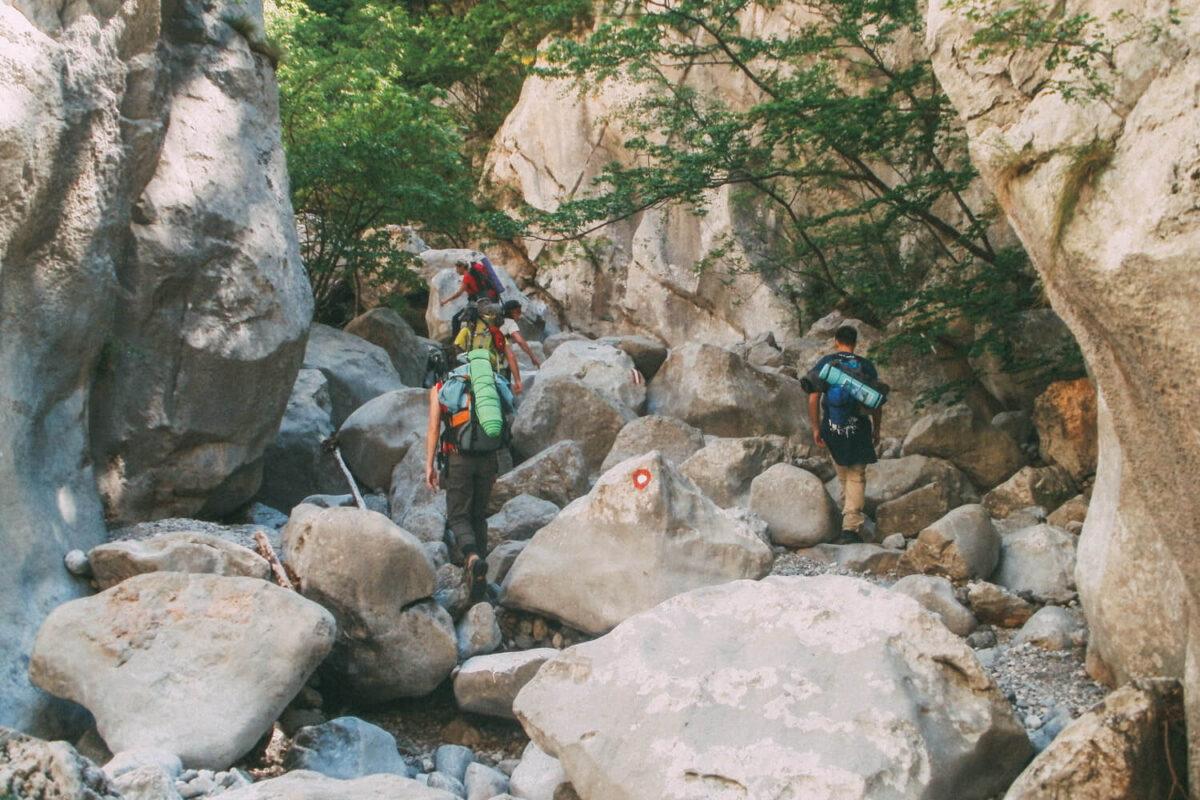 hiking through the mala paklenica canyon
