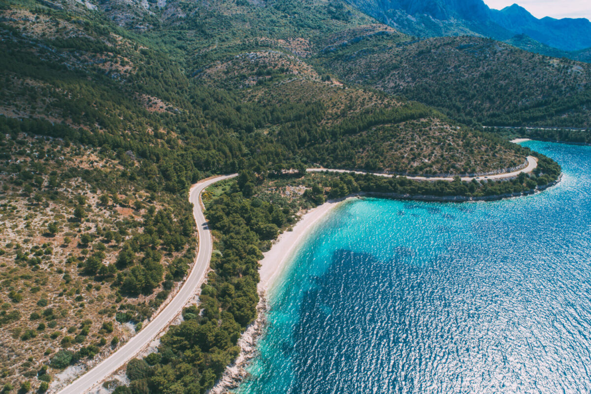 beautiful landscape of makarska riviera in croatia