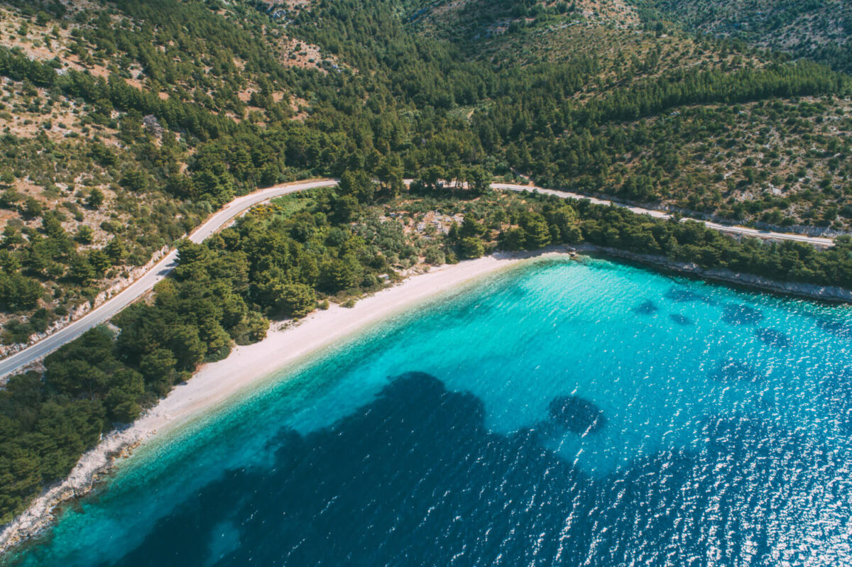 makarska riviera beaches, vira beach near Drvenik in croatia