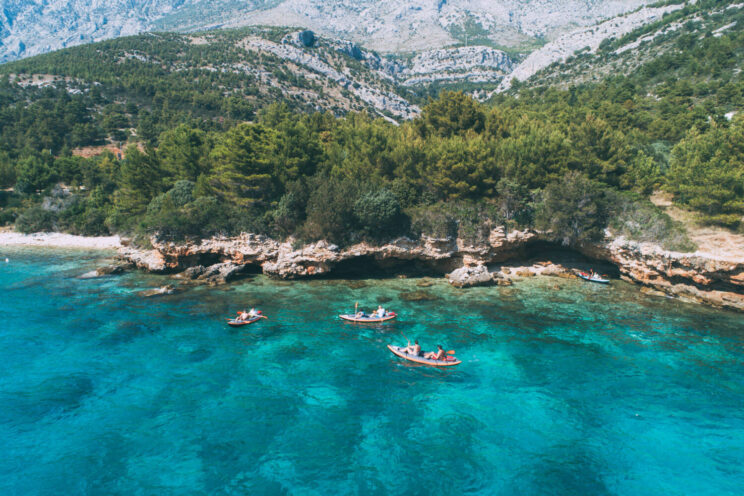 kayaking around makarska riviera beaches in croatia