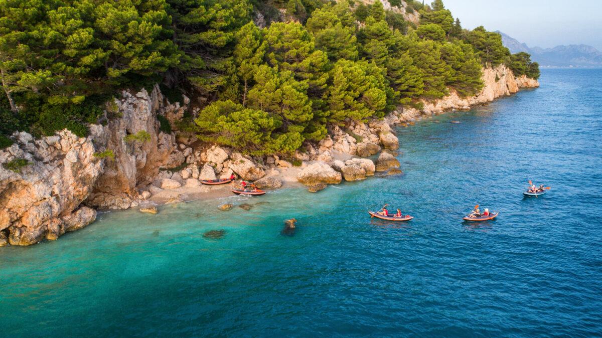 kayaking is one of the best makarska water sports